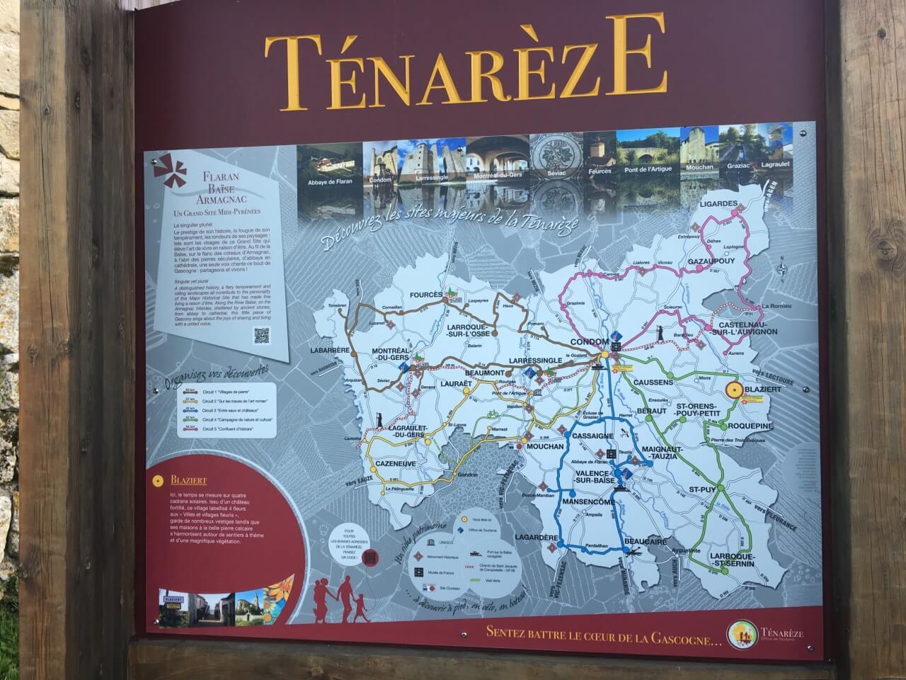 """La carte de la Ténarèze (ou """"Condomois"""") proposée au village de Blaziert"""