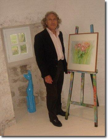 L'artiste et son chevaletdans son refuge créatif