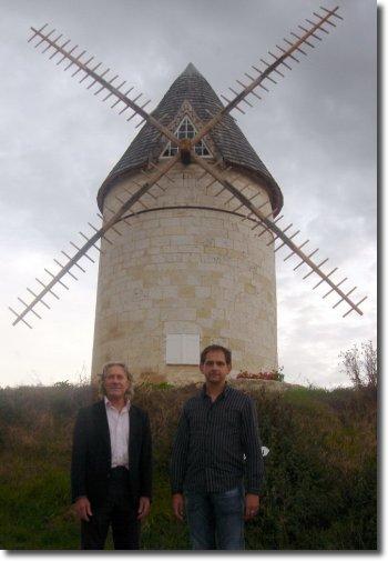 andré et Président Choudevant le moulin de l'artiste