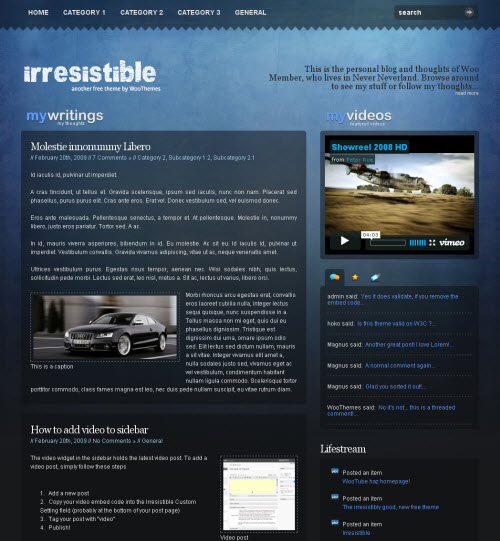 Thème Irresistible WordPress