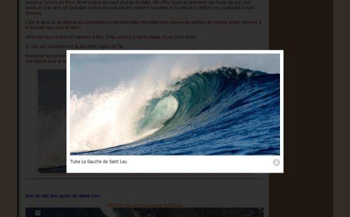 Lightbox Saint Leu in DODO Surf Club website middle screenshot