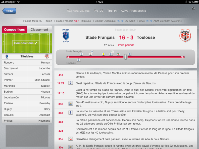 Eurosport iPad app