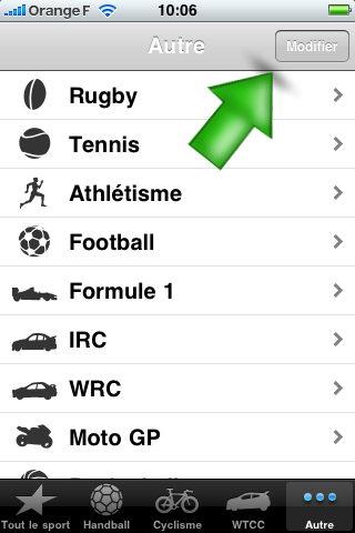 Eurosport iPhone app 3