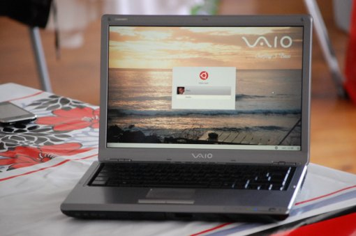 Vaio Titou Ubuntu screen