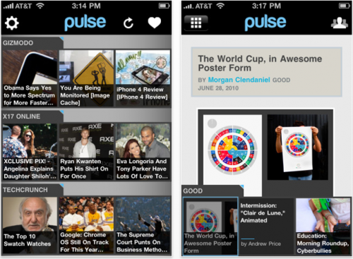Pulse app pour iPhone iOS