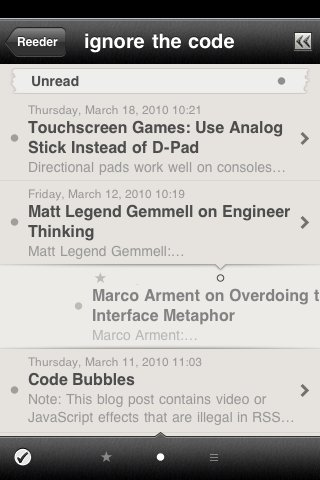 Reeder iPhone app