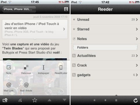 Reeder iPhone app 3