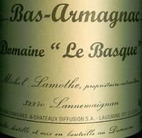 Armagnac Le Basque étiquette bouteille