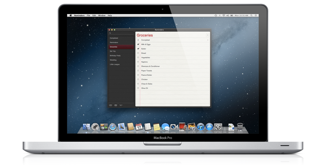 rappels reminders sur mac os x moutain lion