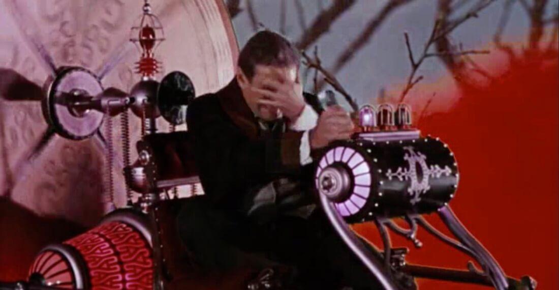 Scène du film La Machine à explorer le temps, 1960