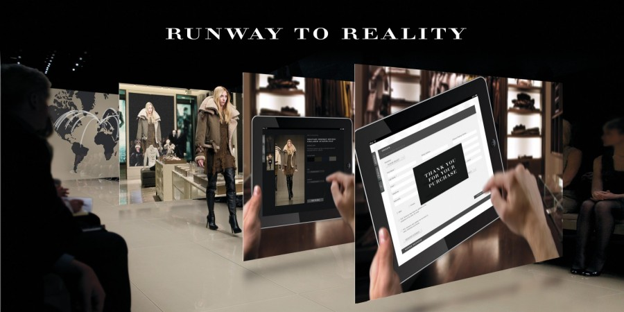 "Magasin Burberry de Londres ""Runway to reality"""