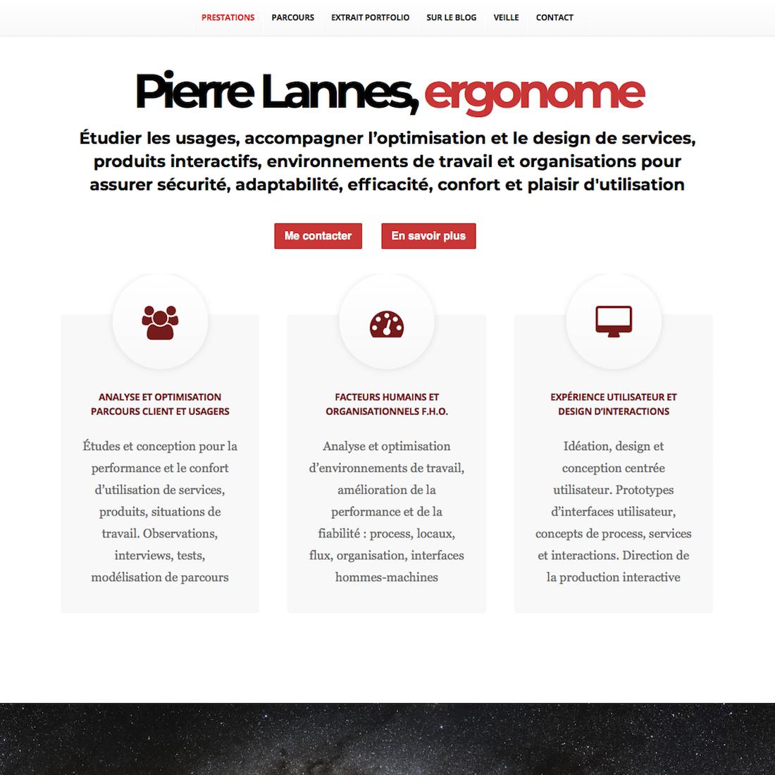 Capture écran de la partie visible de la page d'accueil 2016